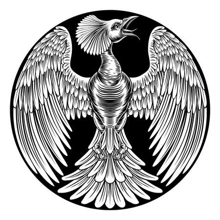 Phoenix Fire Bird Design vector illustration.