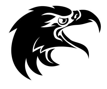 Een adelaarsvogel karakter hoofd in profiel Stock Illustratie