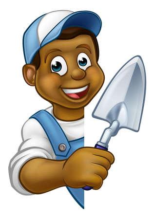 Builder Bricklayer Construction Worker Trowel Tool
