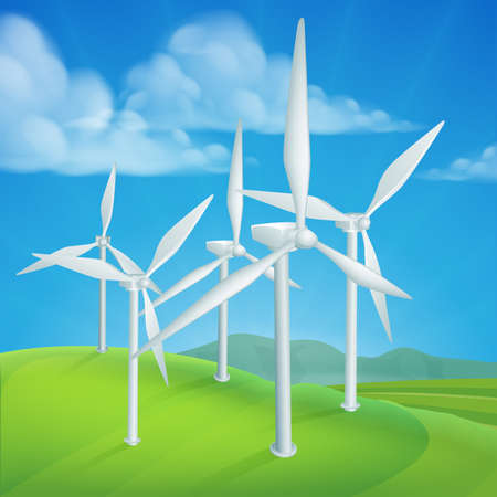 Wind energy or power turbines generating renewable electricity