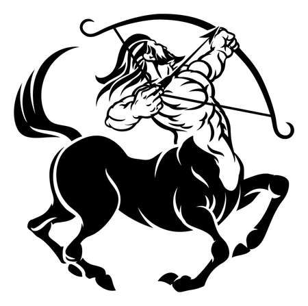 Sagittarius Centaur  Sign Stock Illustratie