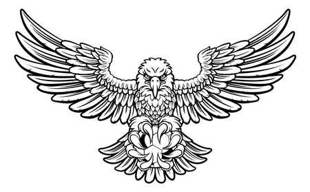 Eagle Soccer Football Mascot Stockfoto
