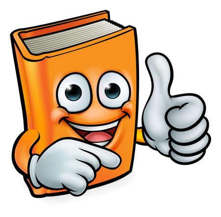Book cartoon education mascot.