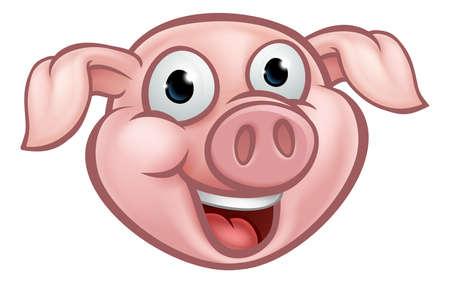 Pig Cartoon Character vector illustration Illustration
