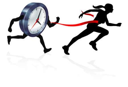 Batir el reloj ilustración vectorial.