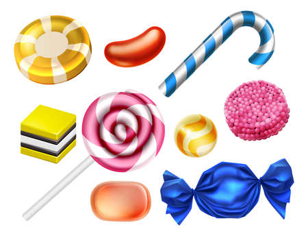Candy Sweets Set Иллюстрация
