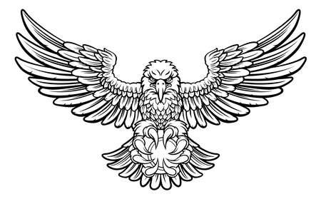 Eagle Tennis Sports Mascot Illustration