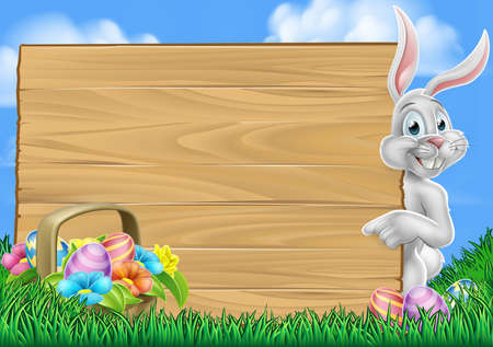 Easter Egg Hunt Bunny Rabbit Background Stockfoto - 96670590