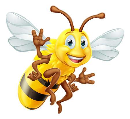 Honey Bee Cartoon Character 向量圖像