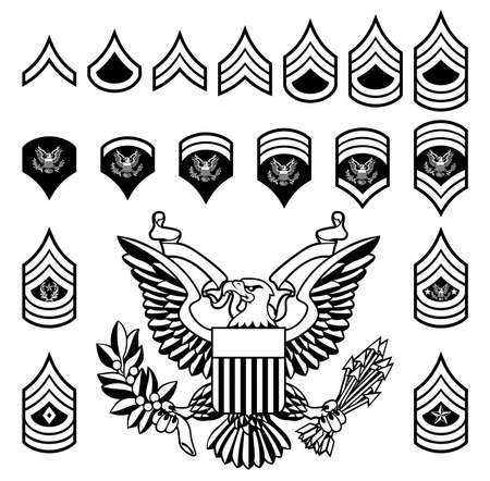 Army Military Rank Insignia set