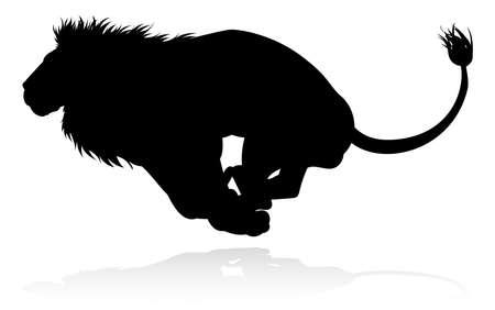 Silhouette Lion Illustration