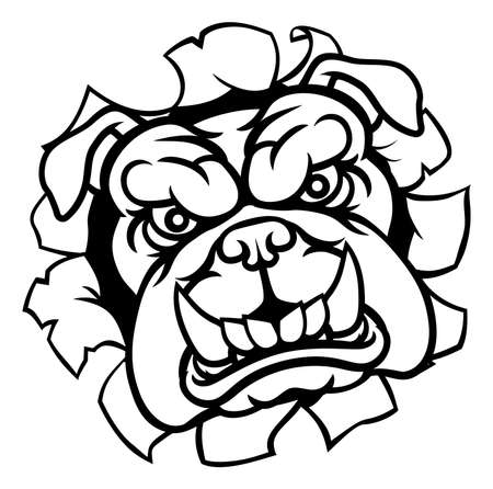 Bulldog can be used as icon or logo Ilustracja