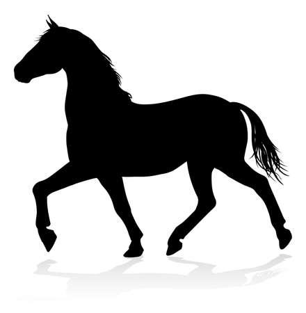 Pferd Tier Silhouette