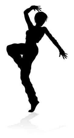 Street Dance Dancer Silhouette Vector illustration.