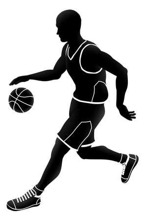 Silueta de deportes de jugador de baloncesto