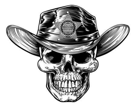 Grim Reaper Skull Sheriff