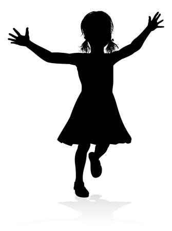 Kid Child Silhouette Иллюстрация