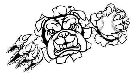 Bulldog Baseball Sports Mascot