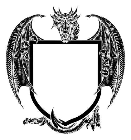dragon crest heraldic coat of arms shield emblem royalty free rh 123rf com vector christmas lights vector christmas