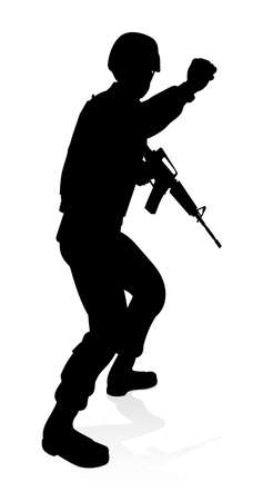 Soldier High Quality Silhouette Illustration