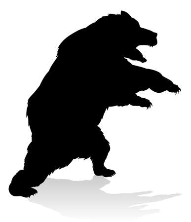 Bear Grizzly Silhouette