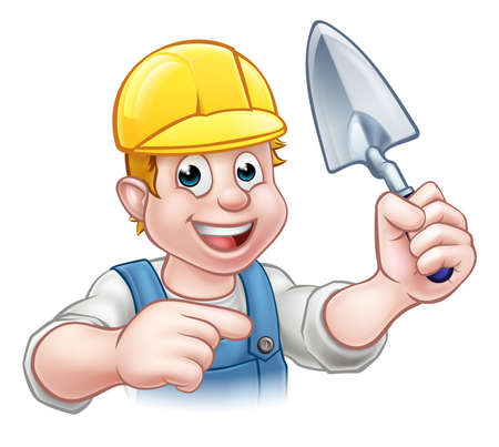 Builder Maurer Bauarbeiter Kellenwerkzeug