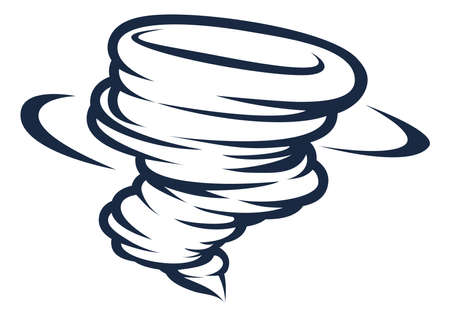 Tornado Cyclone Hurricane Twister Icon Illustration