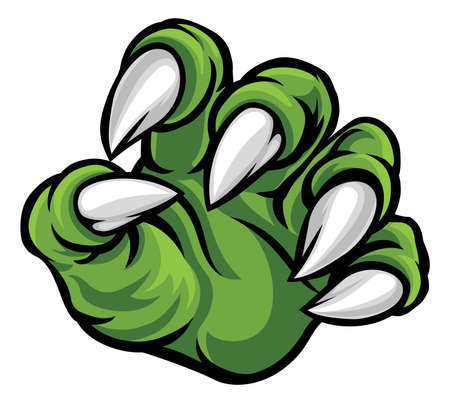 Monster Talons Claw Hand Illustration