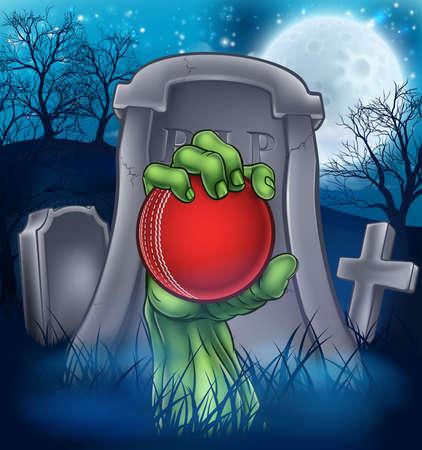 Cricket Zombie Halloween Graveyard Concept