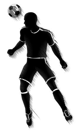 Soccer Player Sports Silhouette Concept 向量圖像
