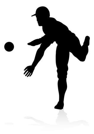 Baseball Player Silhouette Illustration