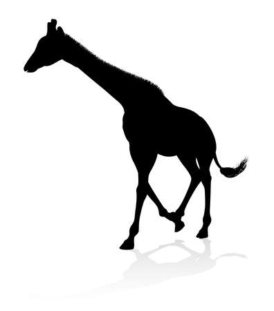Giraffe Safari Animal Silhouette Illustration