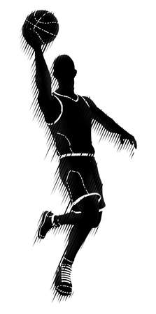 Basketball Player Silhouette Sports Concept