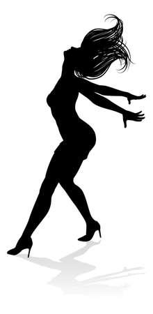 Tanztänzer Silhouette