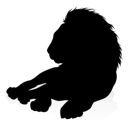 Silhouette Lion  イラスト・ベクター素材