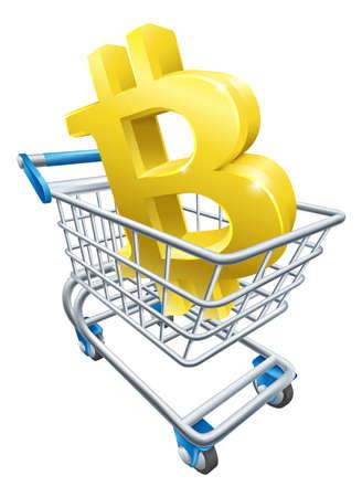 Bitcoin Shopping Cart Concept Stock Vector - 103632253