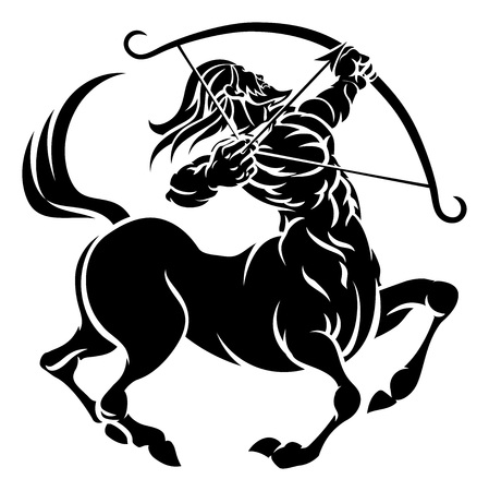 Centaur Archer Sagittarius Zodiac Sign Vettoriali