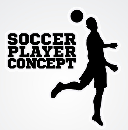 Heading Soccer Football Player Concept Silhouette