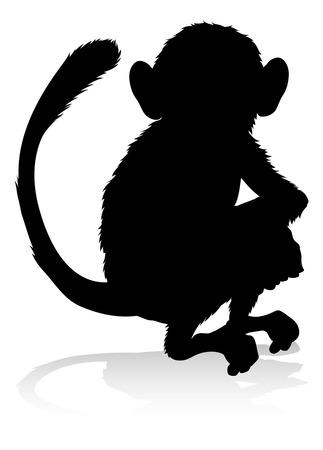 Monkey Animal Silhouette
