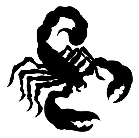 Silhouette animale scorpion Vecteurs