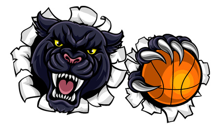 Black Panther Basketball Mascot