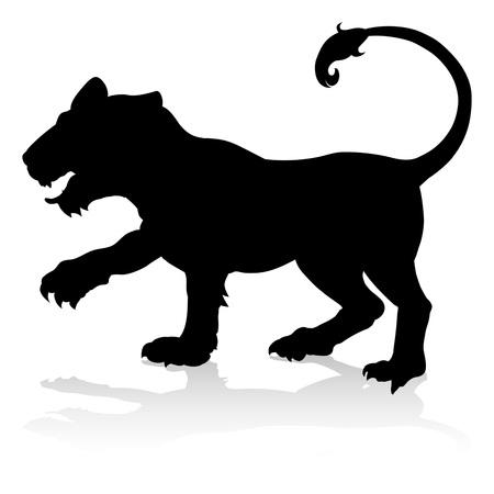 Tijger dierlijke silhouet