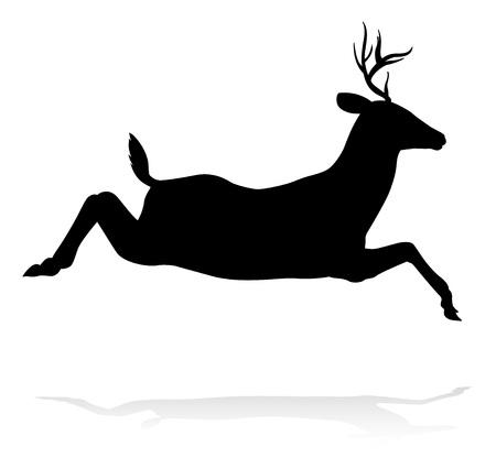 High quality animal silhouette of a deer Ilustração