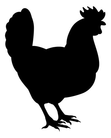 A Silhouette of a rooster Vector Illustration