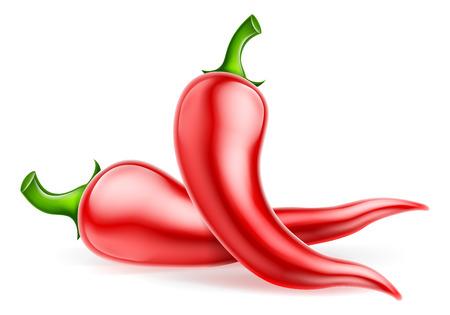 Ilustración de pimientos rojos