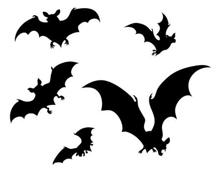Silueta de murciélagos de Halloween