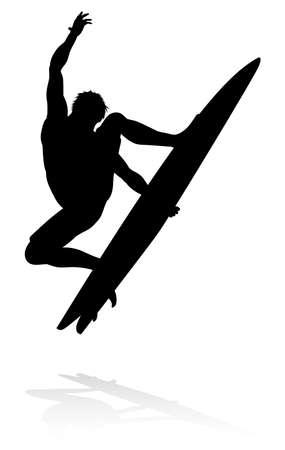 Surfer Silhouette  イラスト・ベクター素材