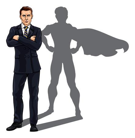 Superhero Business Man