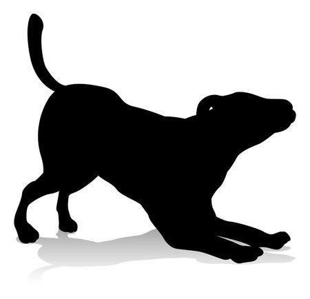Dog Pet Animal Silhouette Ilustrace