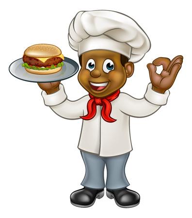 Chef Holding Burger